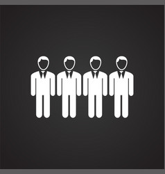 businessman crowd on black background vector image