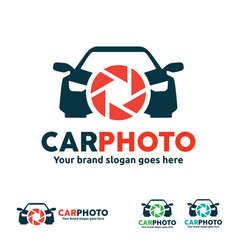 Car camera logo for vehicle photo and video vector