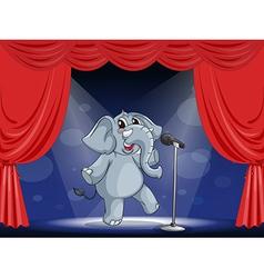 Cartoon Performing Elephant vector image