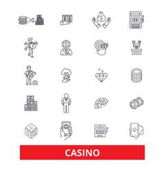 casino slot machinepokerlas vegas roulette vector image vector image