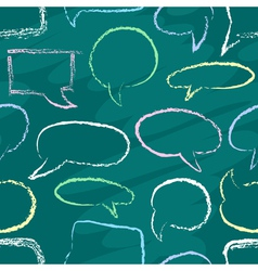 Chalk speech bubbles seamless vector image