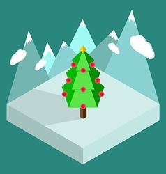 Christmas tree isometric vector image