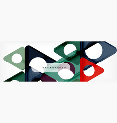 circle and triangle abstract background vector image