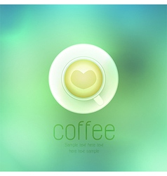 Coffee cup against on abstract background vector