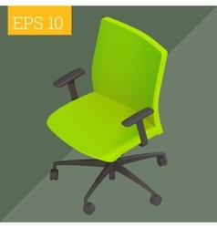Computer chair isometric vector