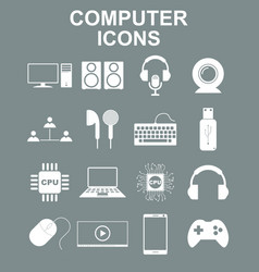 computer icons concept for vector image