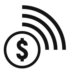 Contactless payment icon simple style vector