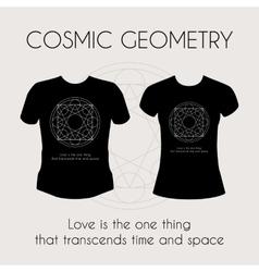 Cosmic Geometry T-Shirt vector image
