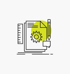 creative design develop feedback support line icon vector image