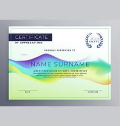 Creative diploma certificate template design vector