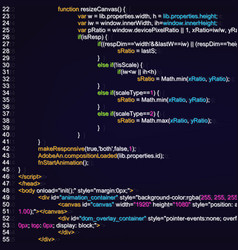 creative of programming html vector image
