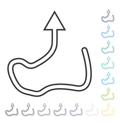 Curve direction icon vector