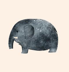 Cute elephant watercolor vector