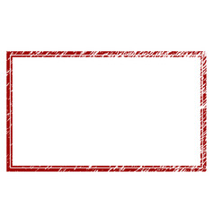 Distressed textured double rectangle frame vector