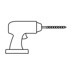 drill tool icon monochrome silhouette vector image