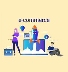 e-commerce startup with vector image