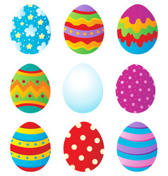 Easter eggs collection 1 vector