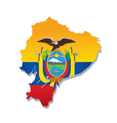 ecuador flag amp map vector image