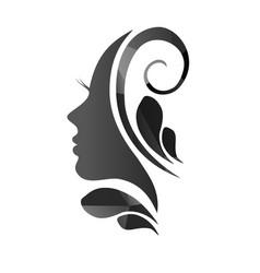 Face a beautiful woman s profile vector
