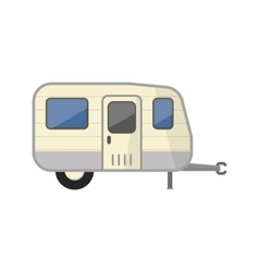 Family camping truck vector image