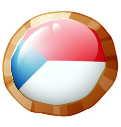 flag icon design for czech republic vector image