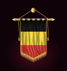 Flag of belgium festive vertical banner wall vector