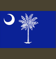 Flag of south carolina usa vector