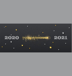 golden loading bar with transition from 2020 vector image