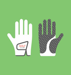 golf glove vector image