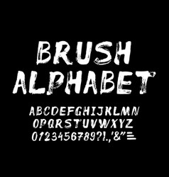 Hand drawn brush strokes alphabet vector