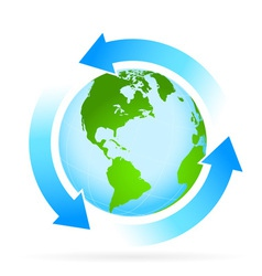 Icon Planet Earth with Arrow vector image