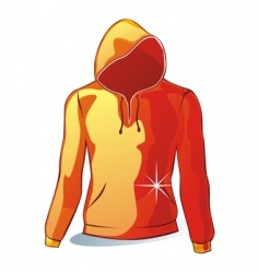 isolated hoodies vector image