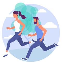 jogging sport people vector image