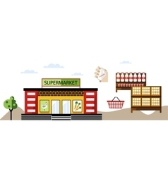 local shop at summer farmers market vector image