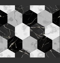 marble luxury striped from hexagons seamless vector image