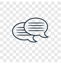message bubble concept linear icon isolated on vector image
