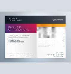 Modern business brochure presentation vector