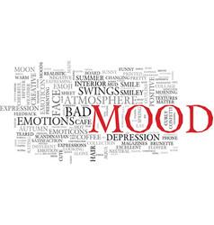 Mood word cloud concept vector