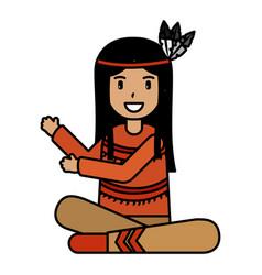 native american character vector image