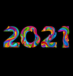 new year and christmas 2021 vector image