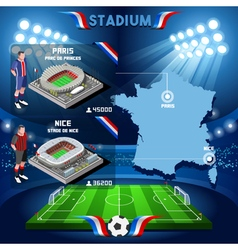 Paris Nice Stadium Infographic vector image