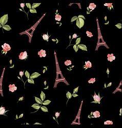 pattern with eiffel tower vector image