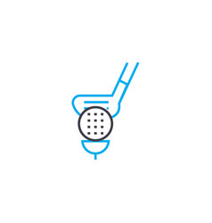 playing golf linear icon concept playing golf vector image