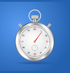 realistic stopwatch timer stop watch vector image