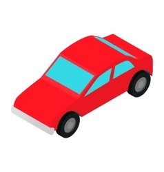 Red car isometric 3d icon vector