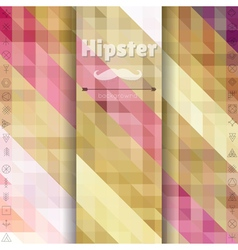 Retro pattern of geometric hipster shapes vector image
