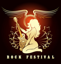 rock festival music show poster vector image
