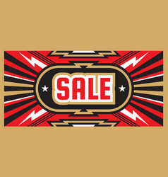 sale special offer - geometric horizontal banner vector image