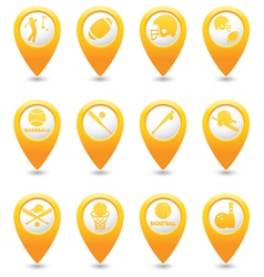 Set of 12 MAP pointer yellow vector