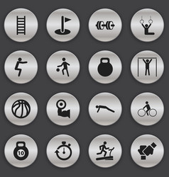 set of 16 editable healthy icons includes symbols vector image